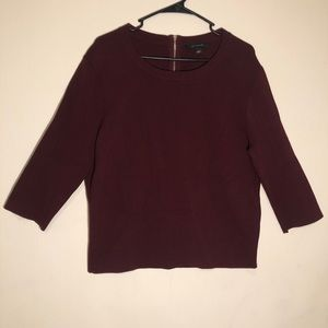🍂Ann Taylor Top with Back Zipper